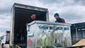 Terzialan Beldesine hibe çöp konteyneri