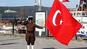 Türk bayrağıyla 1071 kilometre yürüyecek