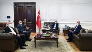 TÜRK-İŞ, KOOP-İŞ ve YOL-İŞ'ten Bakan Soylu'ya nezaket ziyareti