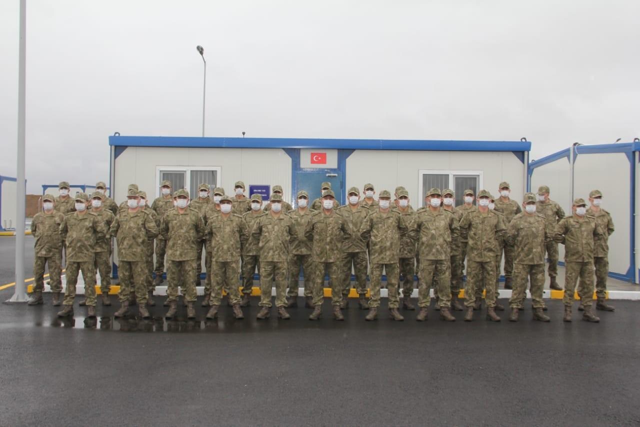 Türk-Rus Ortak Gözetim Merkezi'nde görev yapacak askerlerimiz Azerbaycan'da