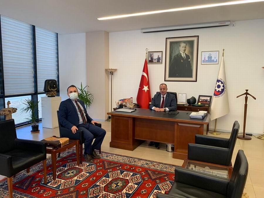 Vakıflar Bankası Şube Müdürü'nden Başkan Semizoğlu'na ziyaret