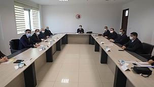 Vali Aktaş kaymakamlarla toplantı gerçekleştirdi