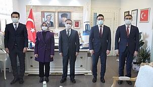 Vali İlhami AKTAŞ'a kaymakam adaylarından ziyaret