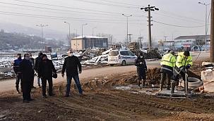 Yeni Çan Devlet Hastanesi yağmur hattı bağlama çalışmaları başladı