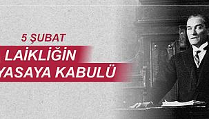 Başkan Gökhan'ın laiklik ilkesinin kabulünün yıldönümüne mesajı