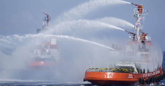 Çanakkale açıklarındaki Ro-Ro gemisinde yangın
