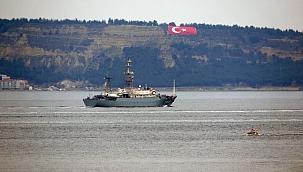 Çanakkale Boğazı'ndan geçen diğer Rus savaş gemisi: 'Priazovye'