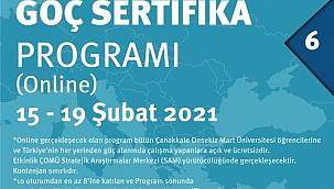 ÇOMÜ'den 'Göç Sertifika Programı'