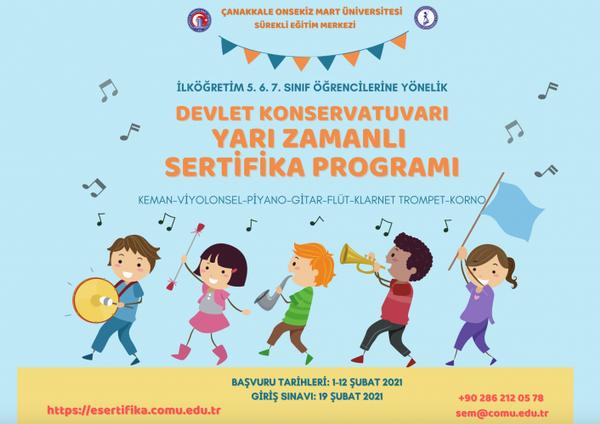 ÇOMÜ'den ilköğretim öğrencilerine yarı zamanlı sertifika programı