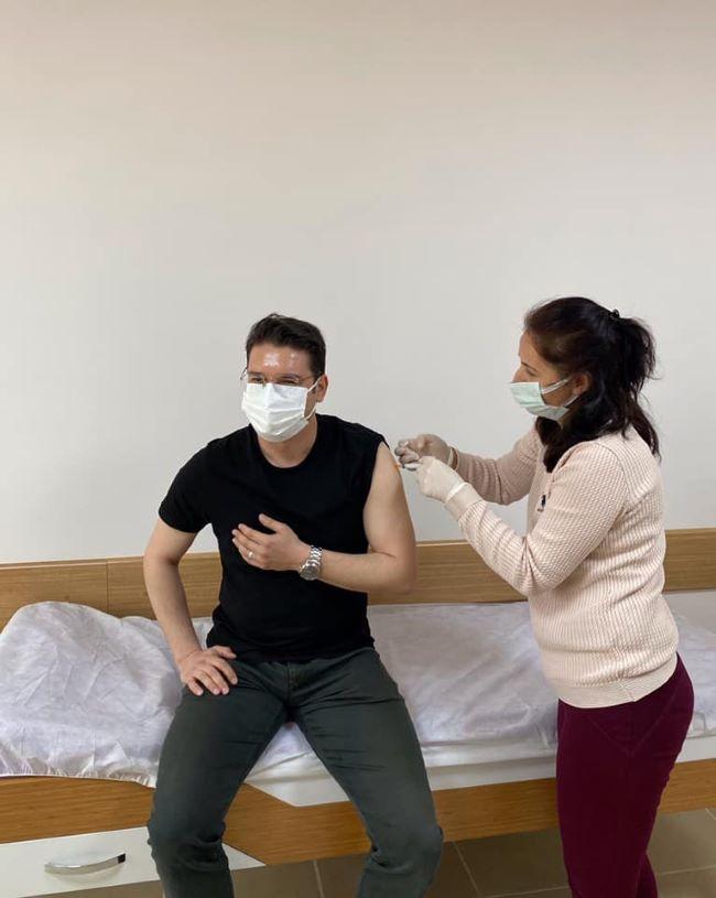 Kaymakam Göktaş aşı oldu