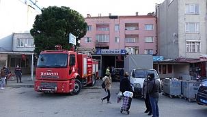 Küçükkuyu'da ev yangını