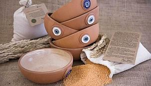 Sağlık çalışanları için tarhana ve seramik çorba kasesi