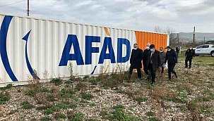 Vali Aktaş, AFAD depolarında incelemelerde bulundu