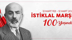 Başkan Gökhan'ın İstiklal Marşı'nın kabulünün yıl dönümü kutlama mesajı