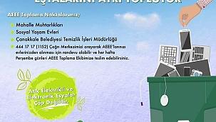 Belediyeler arası e-atık toplama yarışmasında Çanakkale 2inci