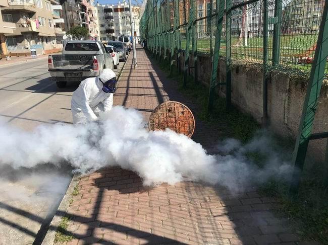 Çanakkale Belediyesi sıcak sisleme çalışmalarına başladı