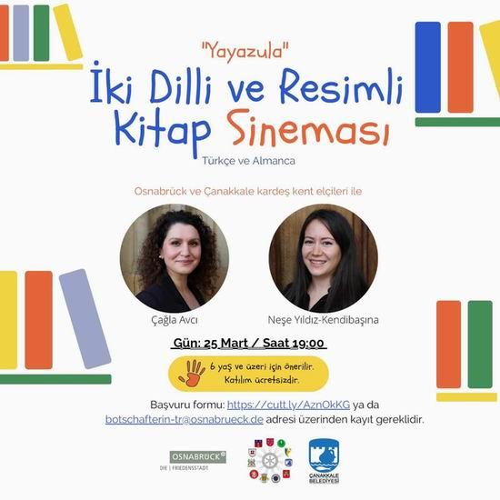 Çocuklar için 'İki Dilli ve Resimli Kitap' sineması