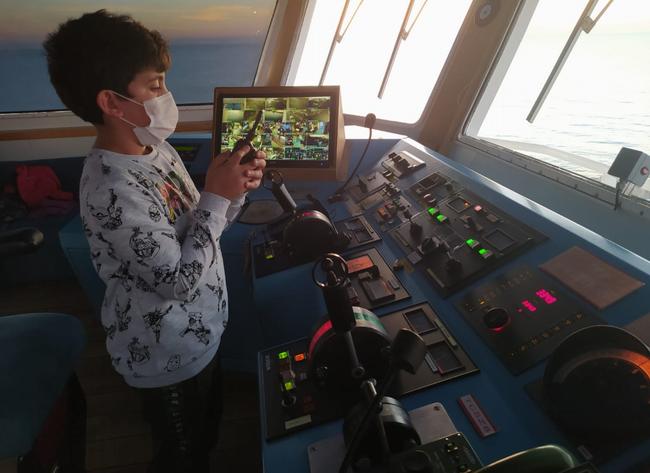 Gökçeadalı minik kaptan Mehmet Akif