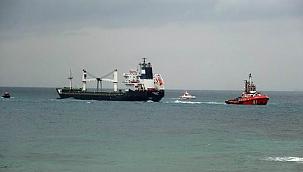 Karaya oturan kargo gemisi kurtarıldı