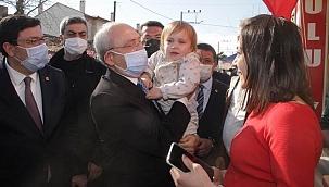 Kılıçdaroğlu Alçıtepe'de muhtarlar ile bir araya geldi