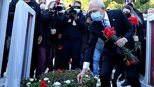 Kılıçdaroğlu'ndan, Çanakkale Zaferi etkinlikleri kapsamında Şehitlik Abidesine ziyaret