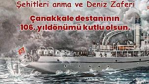 """Özacar: """"Çanakkale Zaferi'nin 106.yıldönümü kutlu olsun"""""""