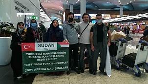 Sudan'daki yoksullara Türk gönüllülerden yardım eli