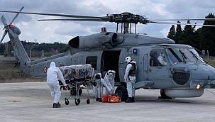 Askerî helikopterle hastaneye sevk edilen korona hastası kurtarılamadı