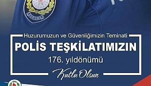 """Başkan Öz, """"Türk Polis Teşkilarının 176. yıldönümü kutlu olsun"""""""