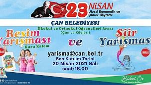 """Çan Belediyesi'nden """"23 Nisan Ulusal Egemenlik ve Çocuk Bayramı"""" temalı yarışma"""