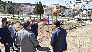 Çan Belediyesi park ve yeşil alan çalışmalarını aralıksız sürdürüyor