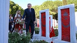 Cumhurbaşkanı Erdoğan'dan Çanakkale Kara Savaşları'nın 106. yıldönümü mesajı