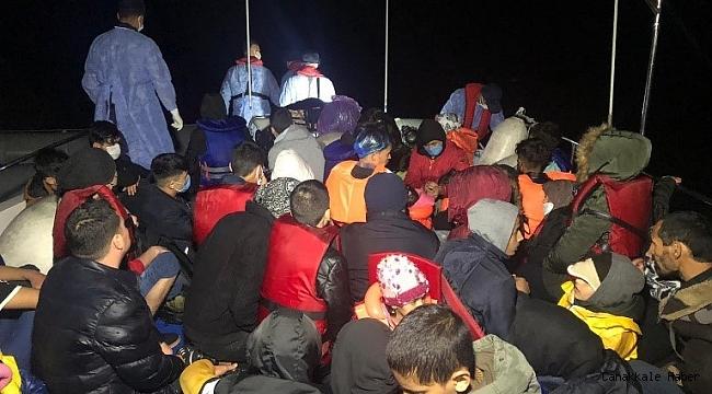 46 düzensiz göçmen kurtarıldı