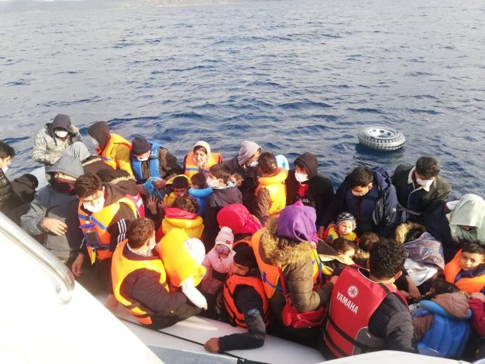 520 düzensiz göçmen kurtarıldı
