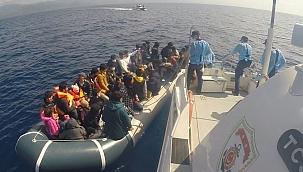 55 düzensiz göçmen kurtarıldı