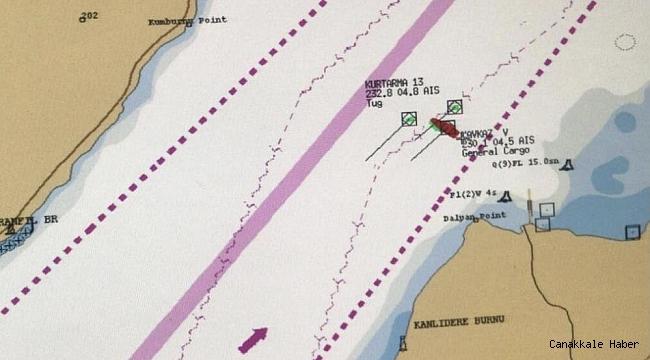 Arızalanan gemi, Karanlık Liman bölgesine demirletildi