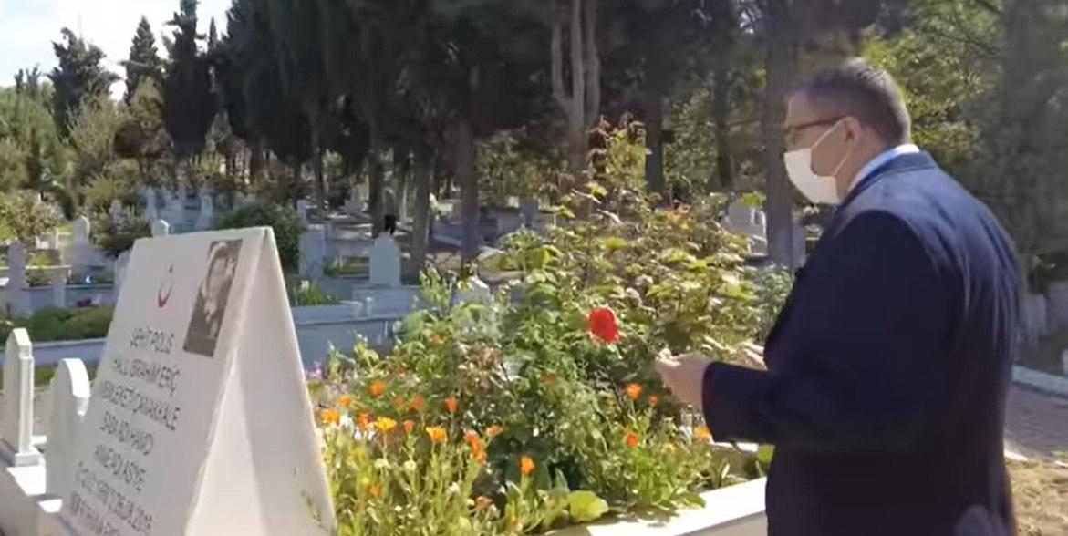 Çan belediyesi ailesi'nin kabristan ziyareti