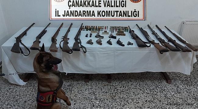 Çanakkale'de mühimmat kaçakçılığı operasyonu