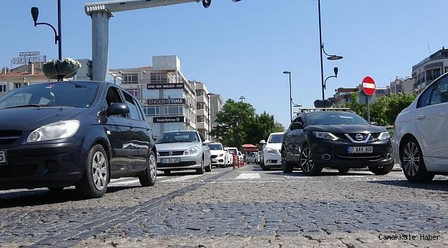 Çanakkale'de trafiğe kayıtlı araç sayısı 242 bin oldu