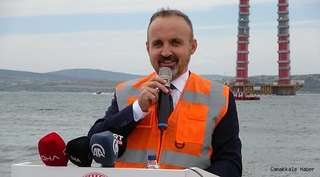 Çanakkale Köprüsü'nün ana halat kablo montajı tamamlandı