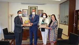 Endonezya Cumhuriyeti İstanbul Başkonsolosu ÇTSO'yu ziyaret etti
