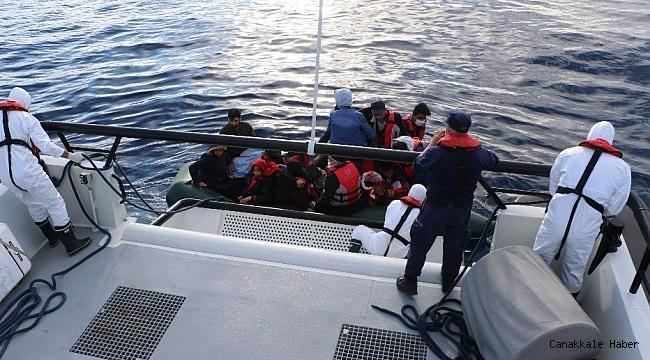 17 düzensiz göçmen kurtarıldı
