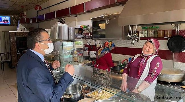 Başkan Öz, normalleşme sonrası esnaf ziyaretiyle başladı