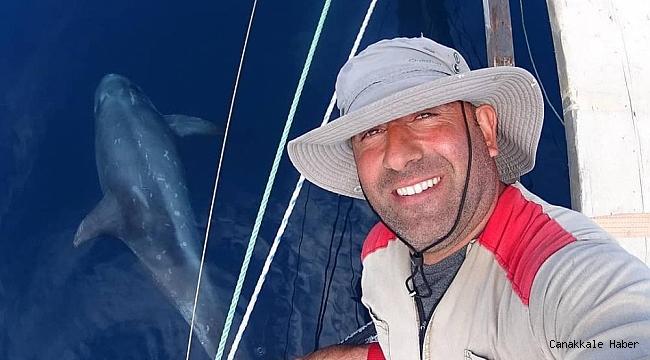 Boz yunus balıkları Gökçeada açıklarında görüldü