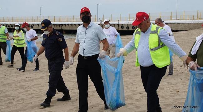 Geyikli'de sahil temizliği gerçekleştirildi