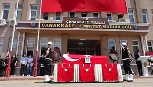Şehit Türkmenoğlu için tören düzenlendi
