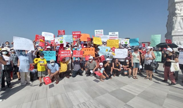 İzmirli depremzedelerden 'emsal artışı' eylemi