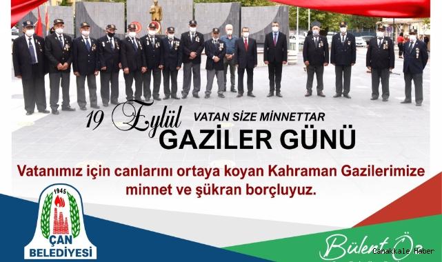 Çan Belediye Başkanı Bülent Öz'ün Gaziler Günü Mesajı