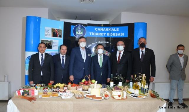 TOBB başkanı Rifat Hisarcıklıoğlu, Çanakkale Ticaret Borsasında
