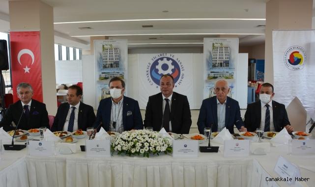 TOBB başkanı Rifat Hisarcıklıoğlu ÇTSO'yu ziyaret etti
